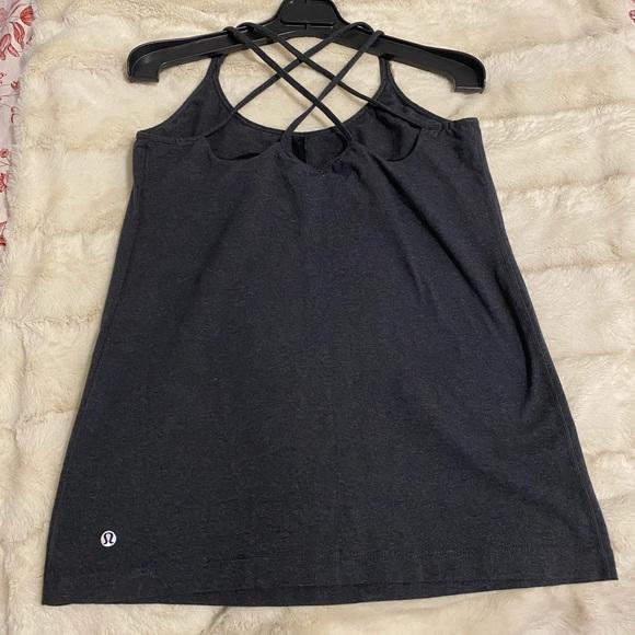 Lululemon Free to Be tank Charcoal Grey Size 12